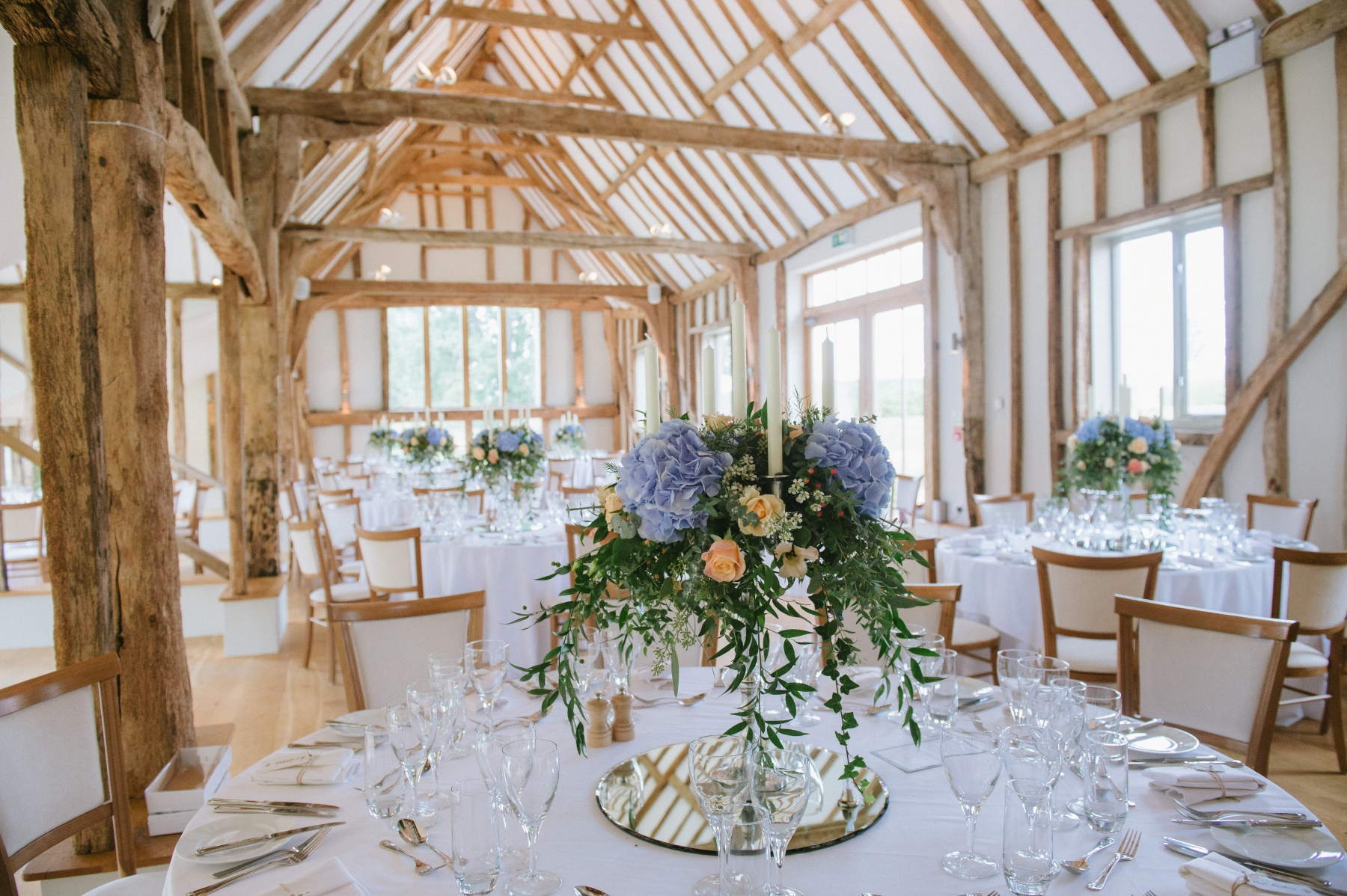 Claire and Stephen September 2016 - Table Centres