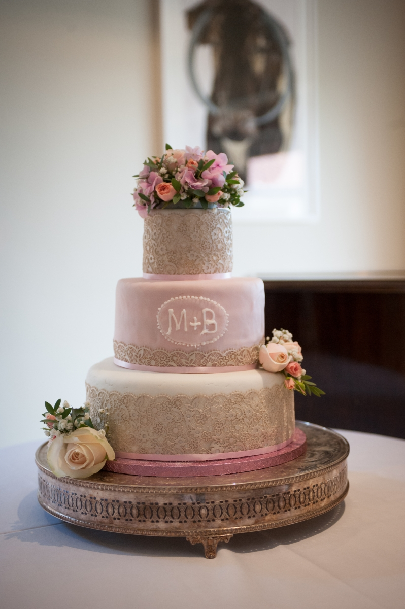 Becki and Matt August 2018 - Wedding Cake flowers