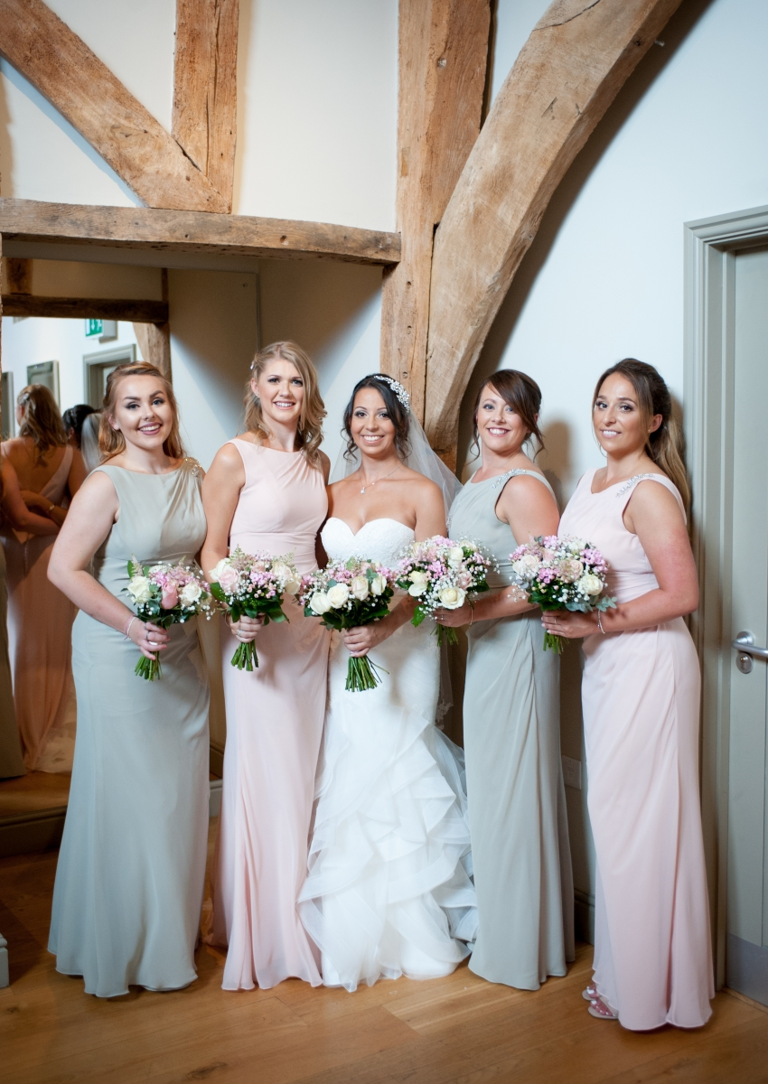 Becki and Matt August 2018 - Bride and Bridesmaids