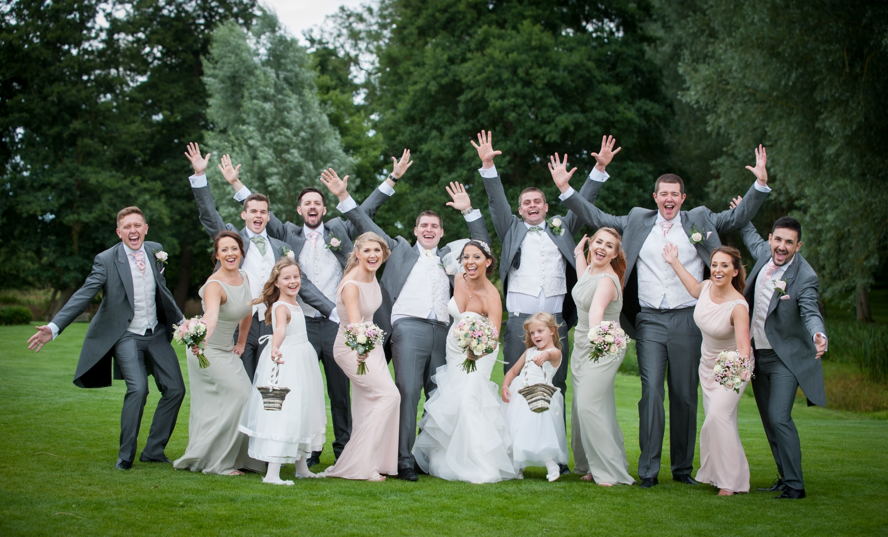Becki and Matt August 2018 - Bride and groom party