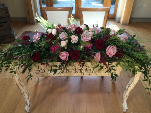 Hayley and Chris August 2016 - Ceremony Table Arrangement