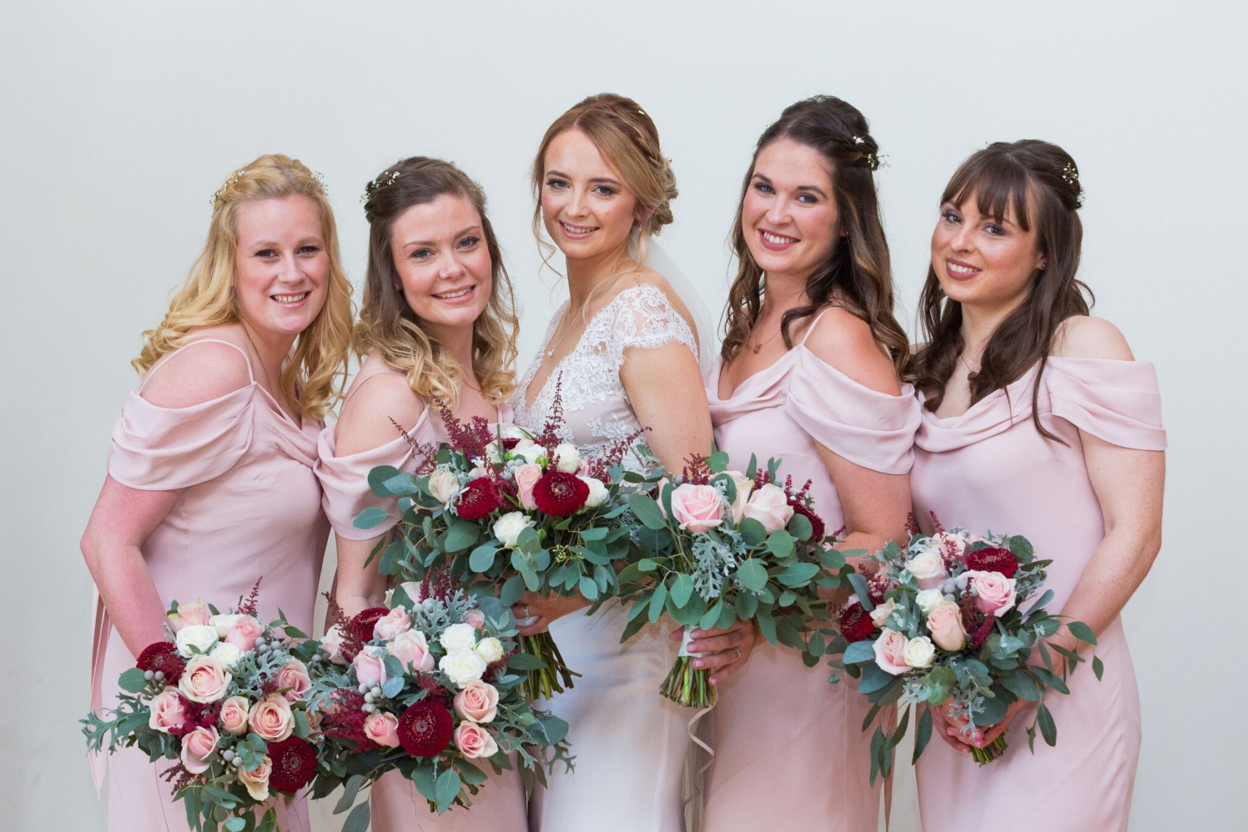 Suzi and Terry October 2017 - Bride and Bridesmaids