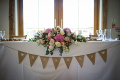 Becki and Matt August 2018 - Top Table Arrangement